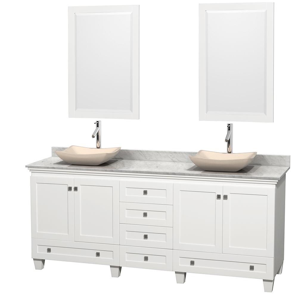 acclaim 80 double bathroom vanity for vessel sinks white
