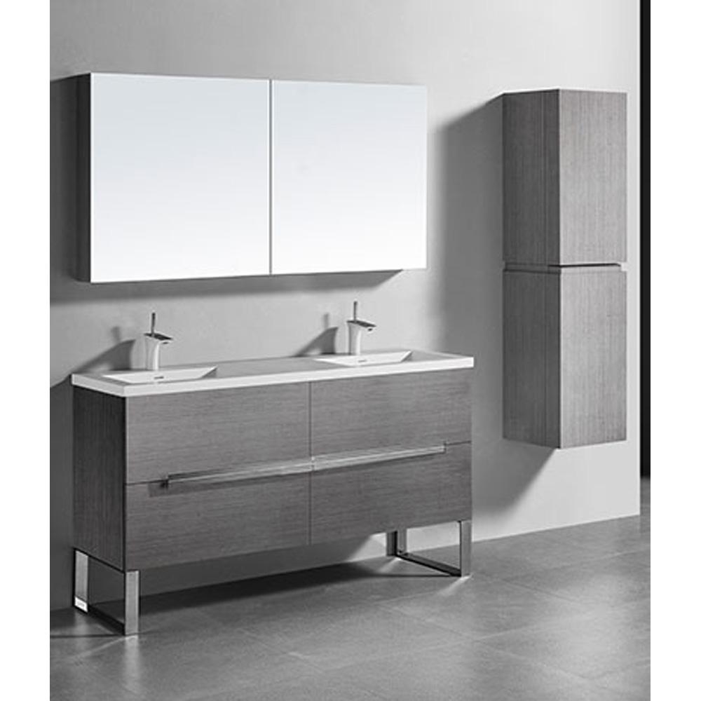 "Madeli Soho 60"" Double Bathroom Vanity for Integrated ..."