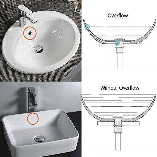 bathroom vessel sink pop up drain