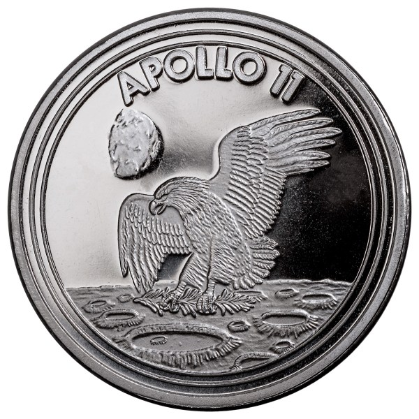 2019 Apollo 11 1 oz Silver Round GEM BU SKU58218 | eBay