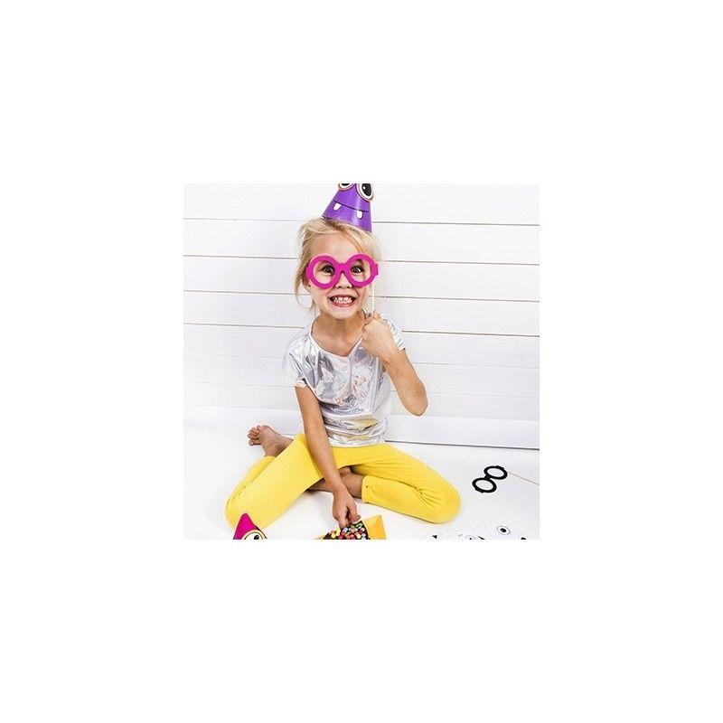 Photobooth Anniversaire Enfant 4 Lunettes Modern Confetti
