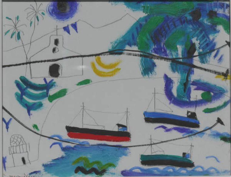 Padraig MacMiadhachain, Three Cornish Boats in Canaries