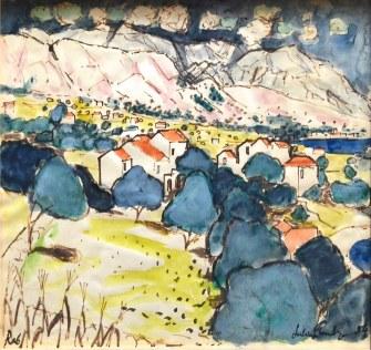 Julian Trevelyan, Village on the Island of Rab