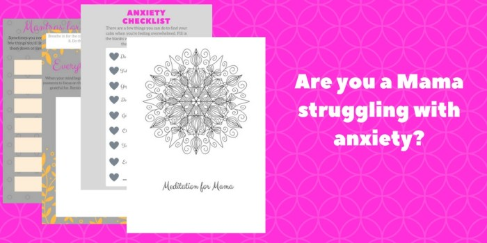 anxiety relief worbook for moms
