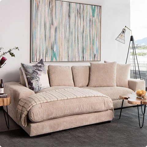 opulent sectional cappuccino
