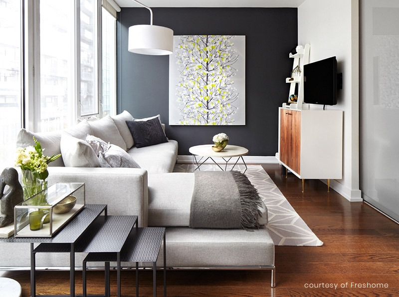 8 Ideas For Your Modern Living Room Design Modern Digs   Modern Living Room With Stairs   Stylish   House   Mansion   Dining Room   Sleek Modern