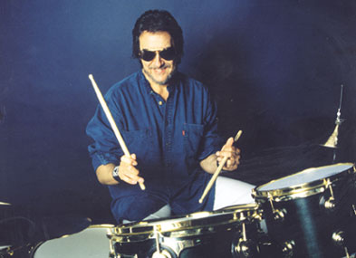 Drummer Jim Keltner at the drums