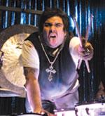 Drummer Dave Buckner of Papa Roach