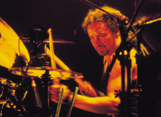 drummer Mike Bordin with Ozzy Osbourne