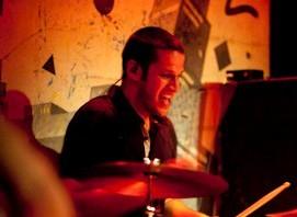 Drummer Greg Faucher of Animal Talk