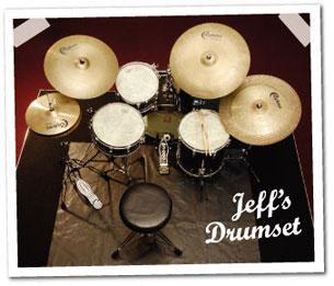 drummer Jeff Hamilton's setup