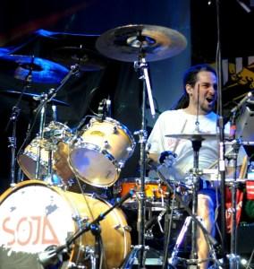 Drummer Ryan Berty of SOJA
