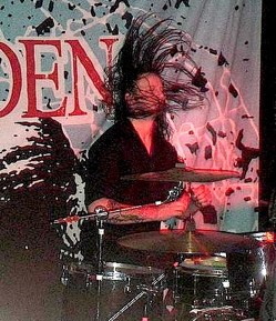Jake Davison of Aiden : Modern Drummer