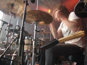 Dan Whitesides of the Used : Modern Drummer