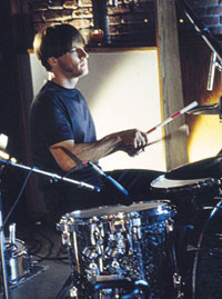 Drummer Joey Shuffield of Fastball