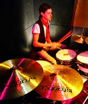 drummer Ned Brower of Rooney