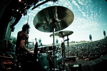 Drummer Tony Palermo of Papa Roach