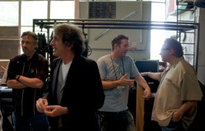 Jeff Iverston of LP, Corky Lang, Jim Riley and Pat Patrillo back stage at MD Fest 2011