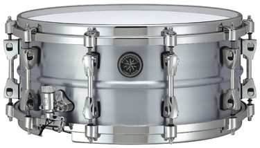 Listen to sound files of Tama's Starphonic aluminum snare drum.