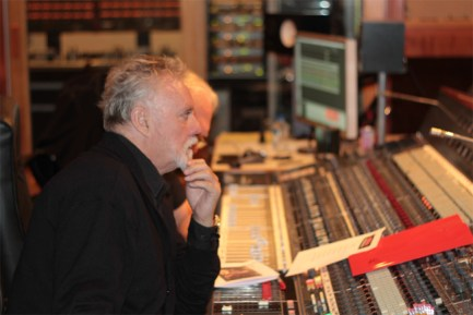 Roger Taylor at the mixing console