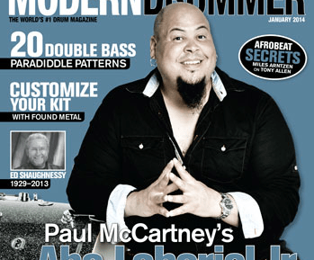 January 2014 Issue of Modern Drummer Featuring Abe Laboriel Jr.