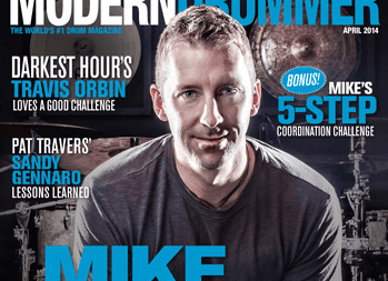 April 2014 Issue of Modern Drummer Featuring Mike Johnston