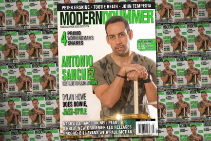 August 2015 Issue of Modern Drummer featuring Antonio Sanchez