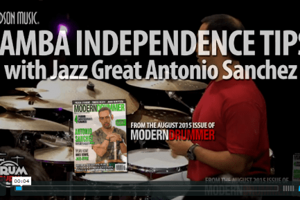 VIDEO LESSON! Samba Independence Tips With Jazz Great Antonio Sanchez