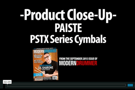 VIDEO DEMO: Paiste PSTX Series Cymbals