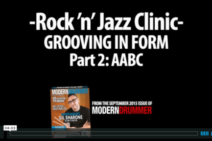 VIDEO LESSON: Grooving in Form, Part 2: AABC