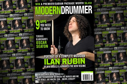 Ilan Rubin on the October issue of Modern Drummer magazine