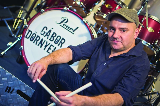 Gábor Dörnyei (tHUNder Duo) is playing Pearl Masters Premium Legend drums.