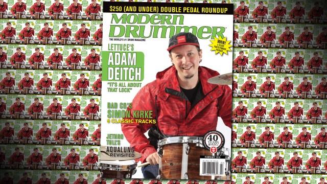Adam Deitch on the February 2016 Issue of Modern Drummer Magazine