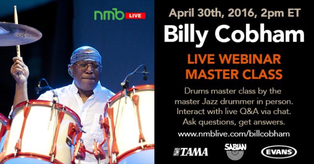 Billy Cobham Live Master Class Webcast