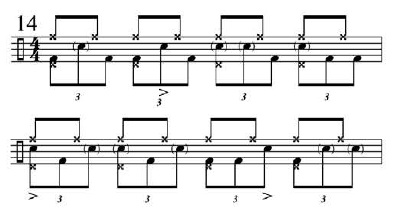 Funk Drumming Changing Subdivisions 6