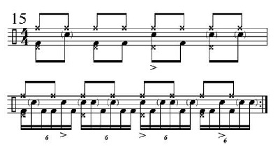 Funk Drumming Changing Subdivisions 8