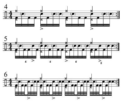 Funk Drumming Changing Subdivisions 2