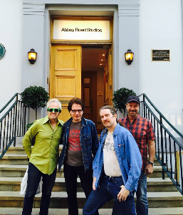 The Weeklings outside Abbey Road Studio