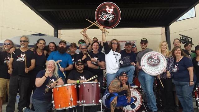 Drumming Up Hope group