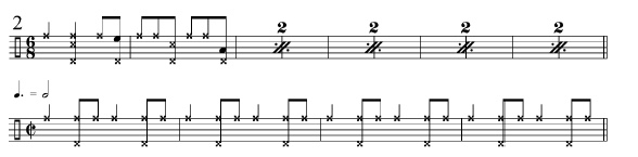 Rhythmic Transition Examples 2