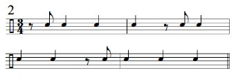 Syncopation Revisited 3/4 Applications 3