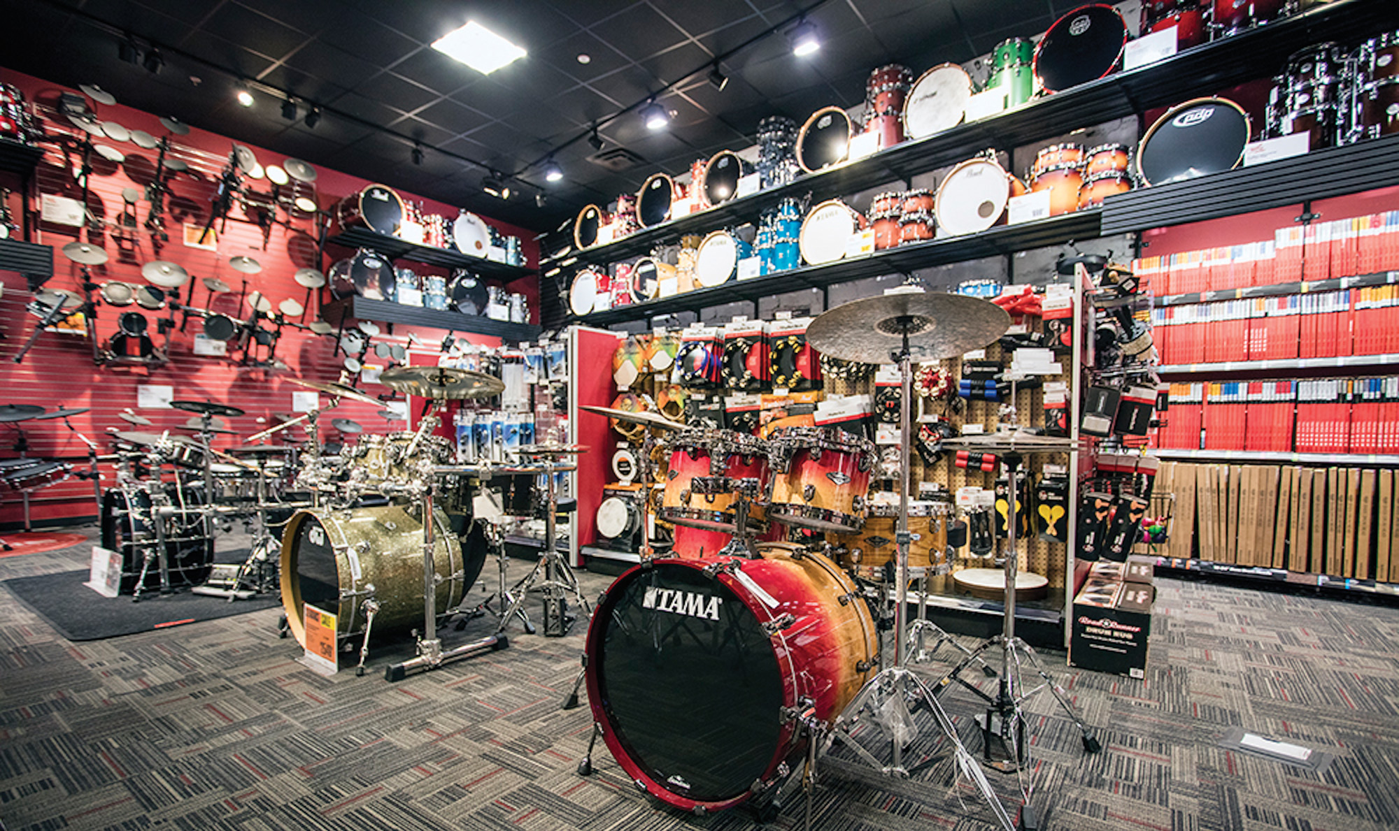guitar center destination drum shops modern drummer magazine. Black Bedroom Furniture Sets. Home Design Ideas