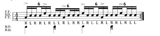Expanding the Paradiddle 6
