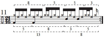 """Golden Measures"" and Fibonacci Rhythms 13"