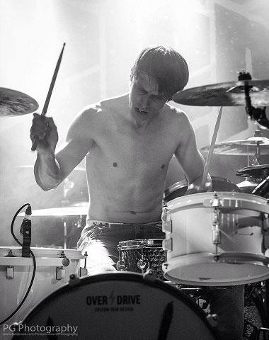 Drummer Edd Unwin of Empress AD