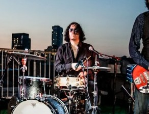 Drummer Russell Simins of the Jon Spencer Blues Explosion