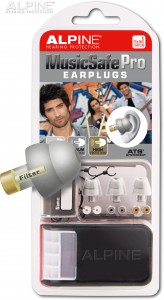 Alpine MusicSafe Pro silver grey with earplug