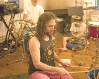 Amir Ziv with mallets