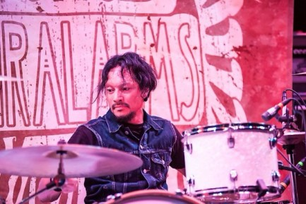 Drummer Andy V Galeon of Spiralarms Photo by Alan Snodgrass