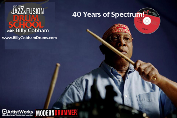"ArtistWorks and Modern Drummer Present ""40 Years of Spectrum,"" a Live Online Workshop with Fusion Great Billy Cobham"